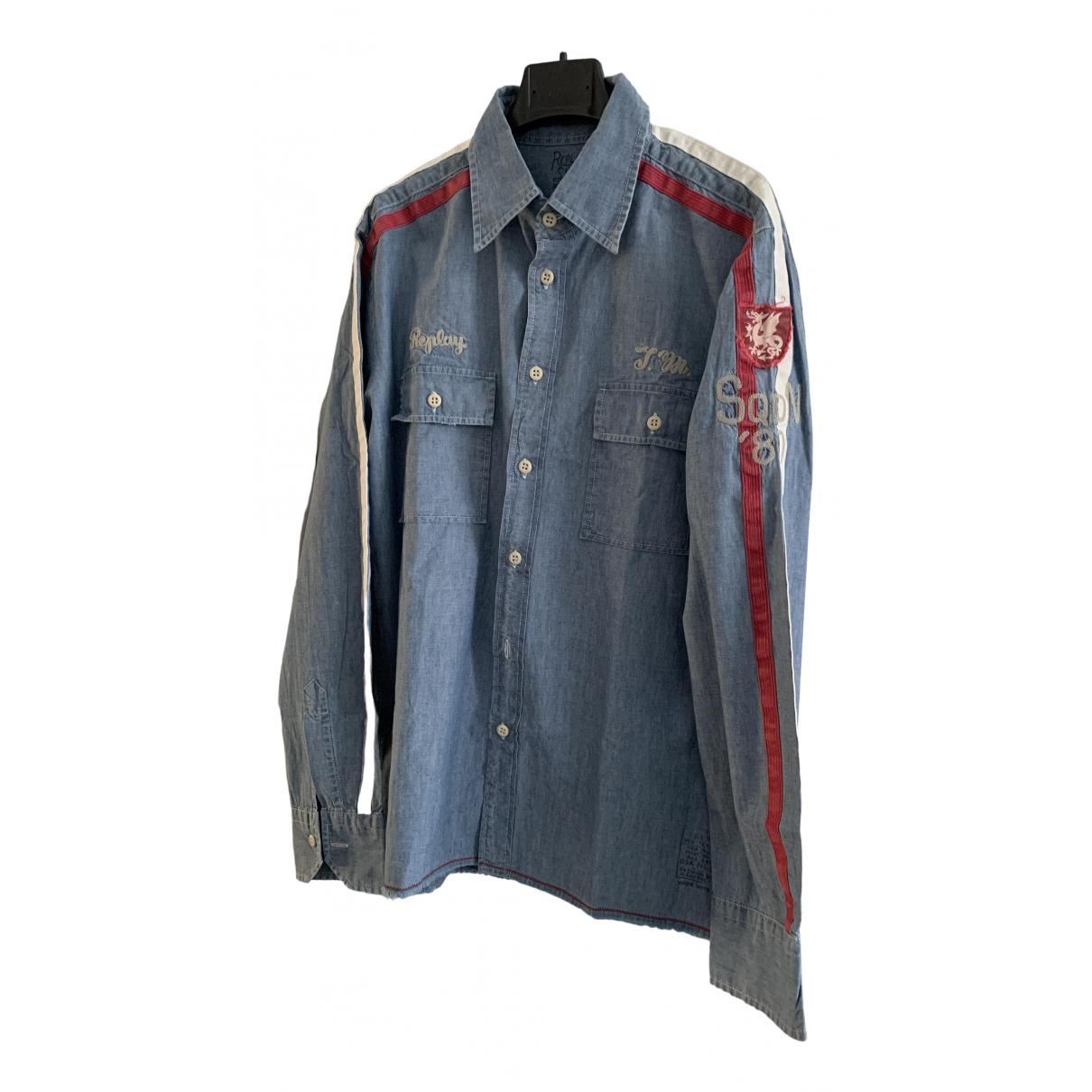 Replay \N Blue Denim - Jeans Shirts for Men L International