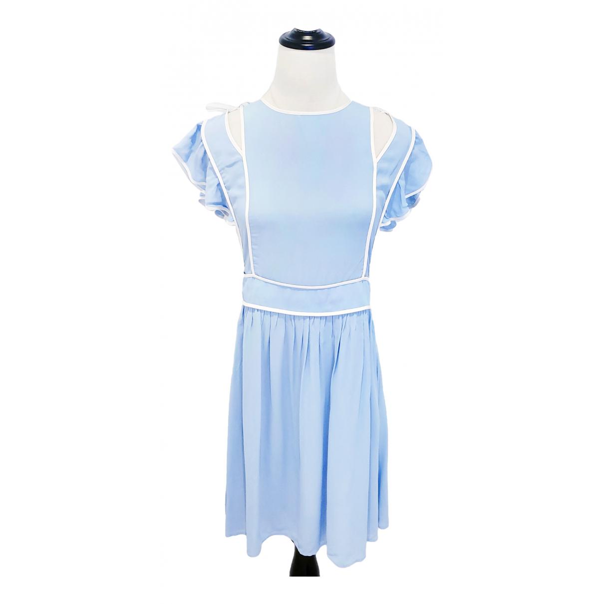 Red Valentino Garavani \N Kleid in  Blau Viskose