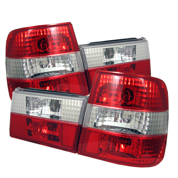 Spyder Auto ALT-YD-BE3488-RC Red Clear Euro Style Taillights BMW E34 525tds 91-95