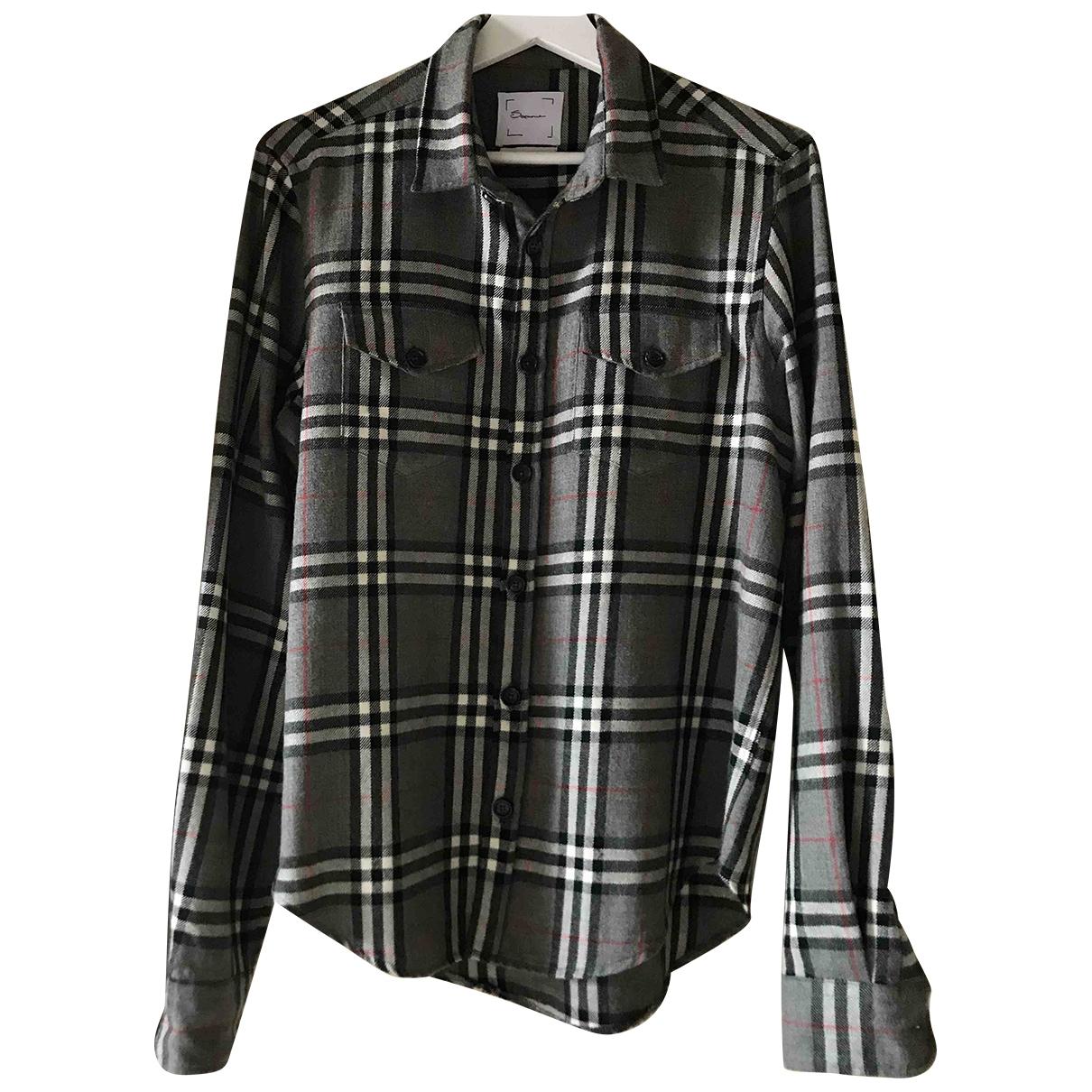 - Chemises   pour homme en laine - gris