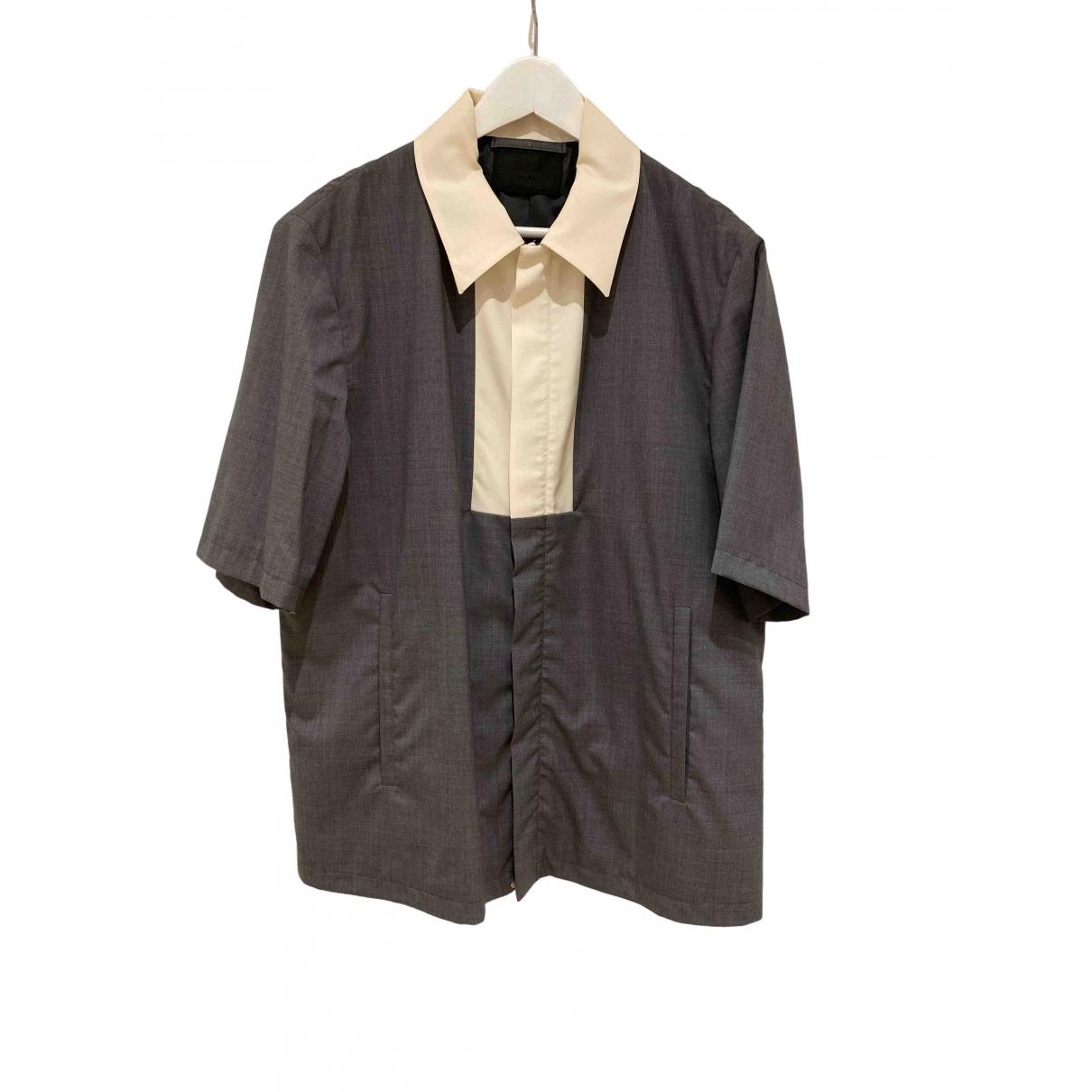 Prada - Chemises   pour homme en laine - gris