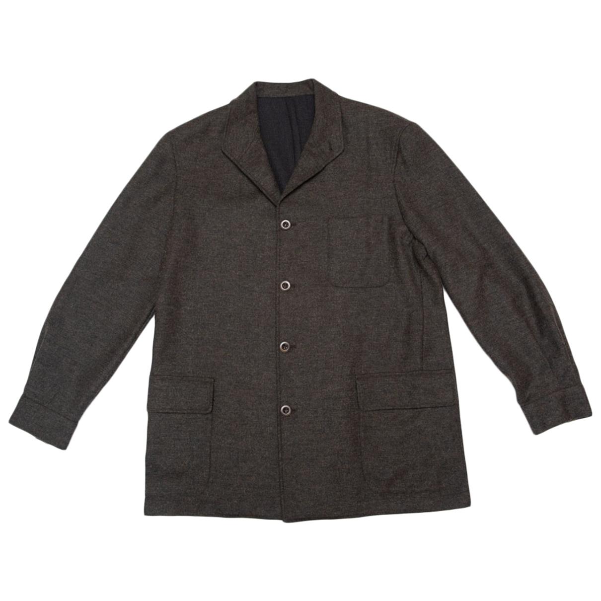 Burberry - Vestes.Blousons   pour homme en laine - kaki