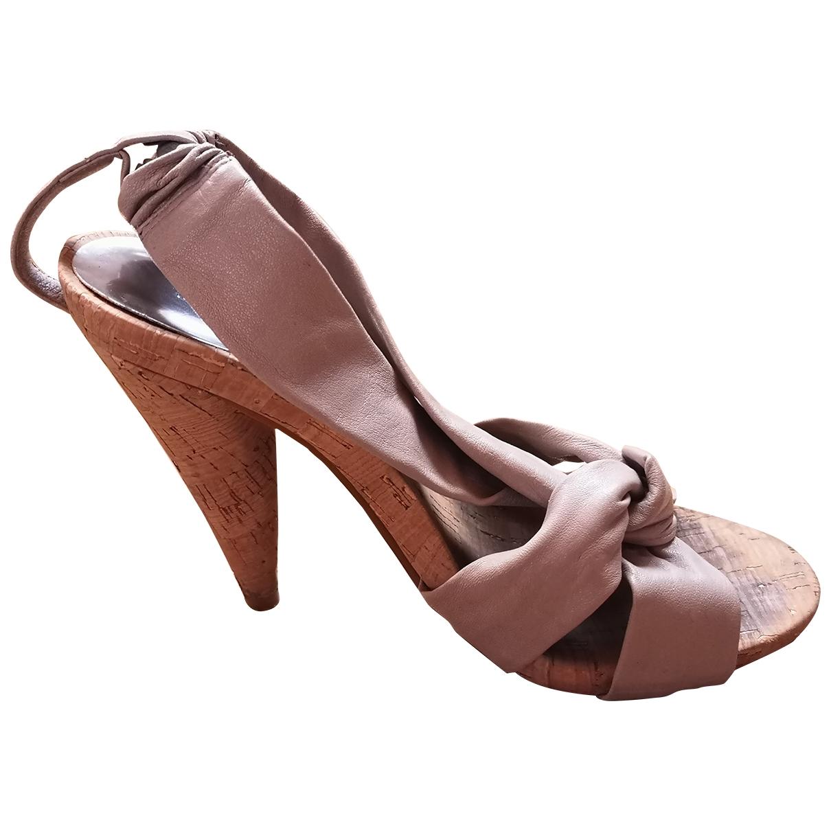 Michael Kors \N Beige Leather Heels for Women 37.5 EU