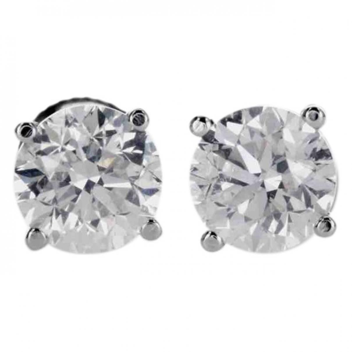 Pendientes Puces en diamants de Oro blanco Non Signe / Unsigned