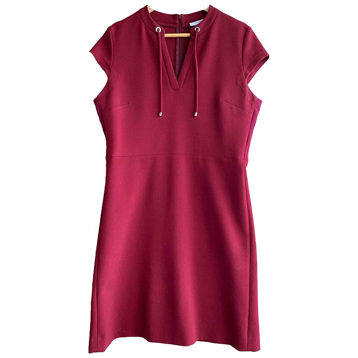 Gerard Darel \N Kleid in  Bordeauxrot Polyester