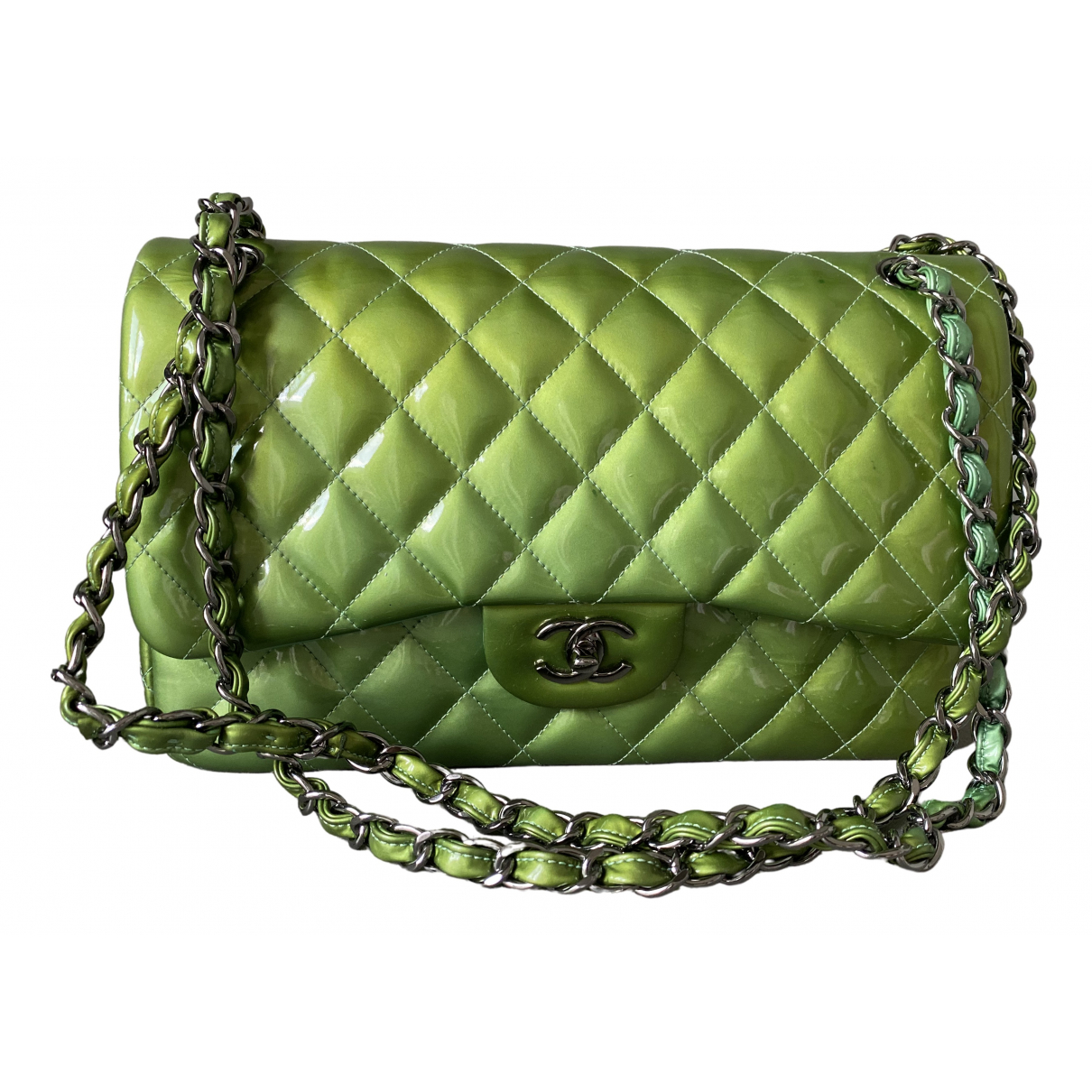 Bolso  Timeless/Classique de Charol Chanel