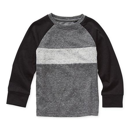 Okie Dokie Toddler Boys Crew Neck Long Sleeve T-Shirt, 2t , Gray