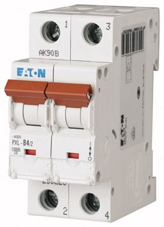 Eaton xPole 4 A MCB Mini Circuit Breaker, 2P Curve C