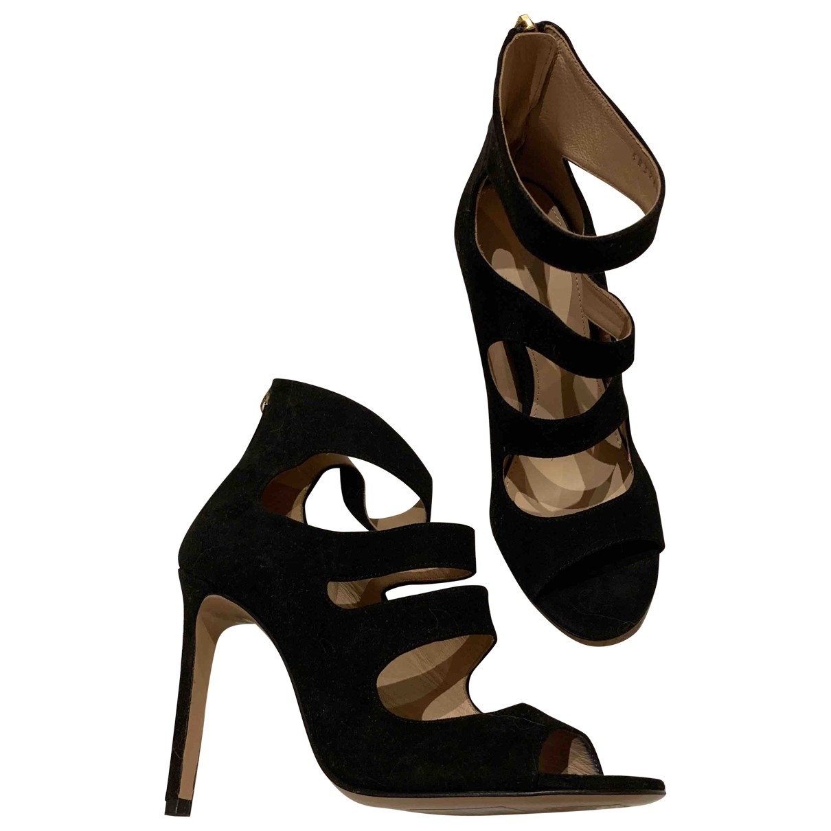 Hugo Boss \N Black Suede Sandals for Women 37 EU