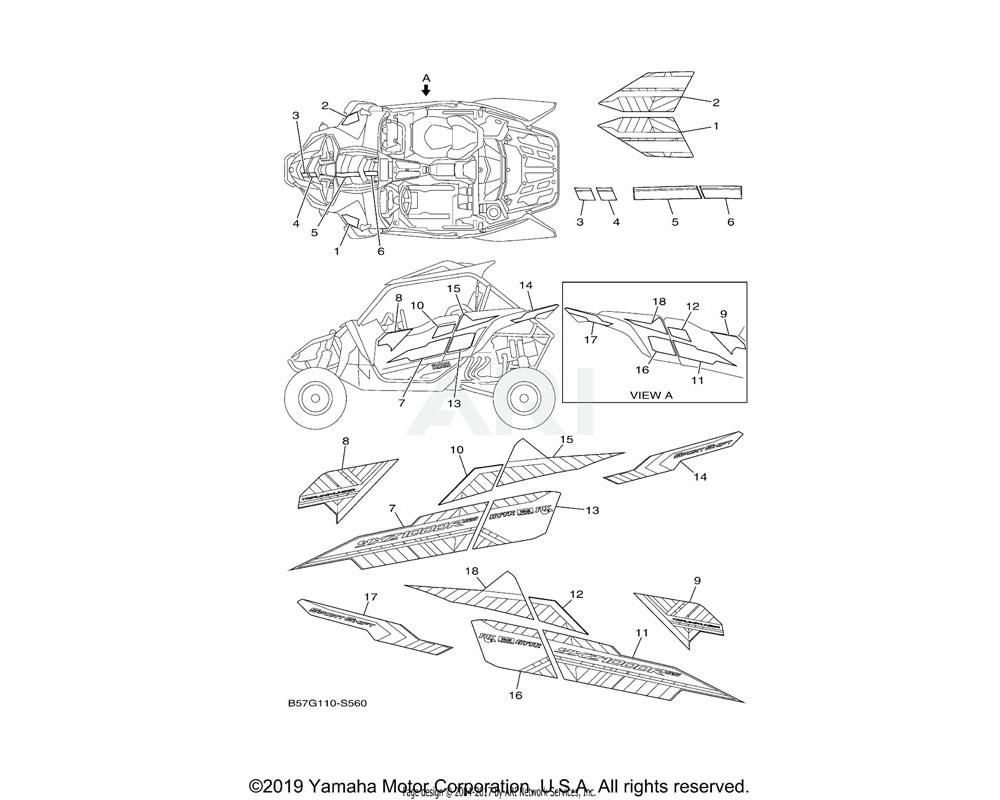 Yamaha OEM B57-F158A-01-00 GRAPHIC 7