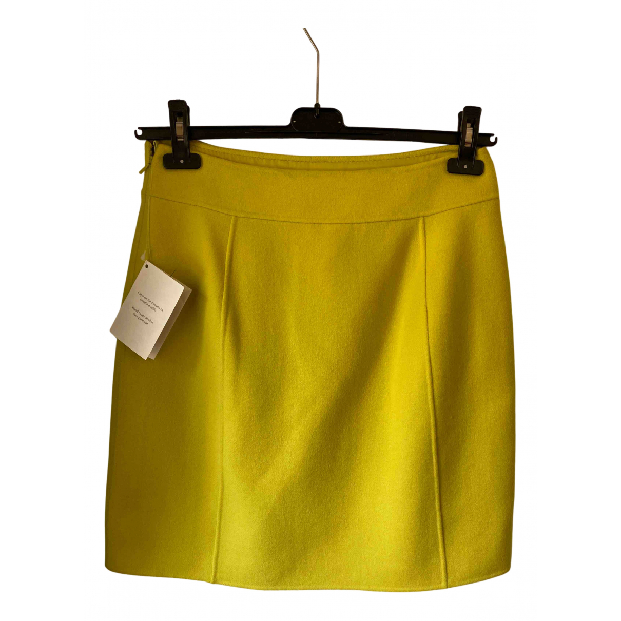 Max Mara - Jupe Max Mara Atelier pour femme en laine - jaune