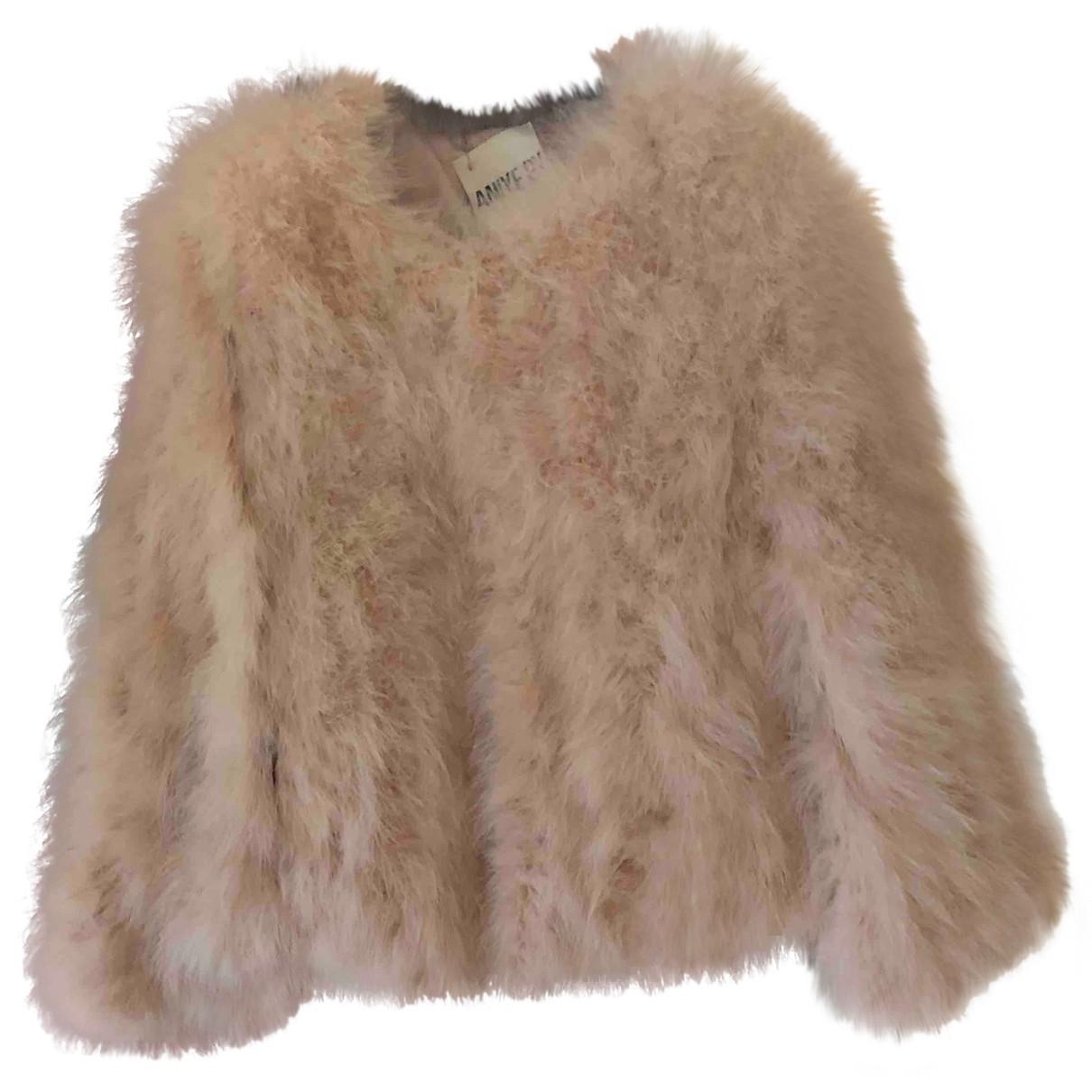 Autre Marque - Veste   pour femme en fourrure - rose