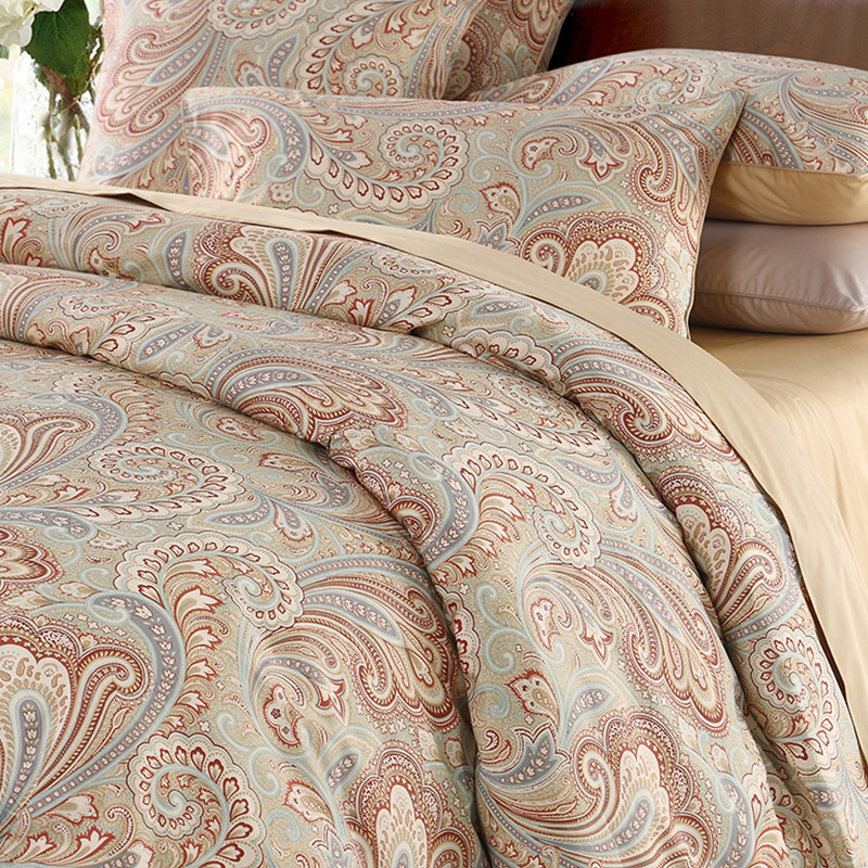 European Plant Duvet Cover Set Reactive Printing Four-Piece Set Fitted Sheet Polyester Bedding Sets
