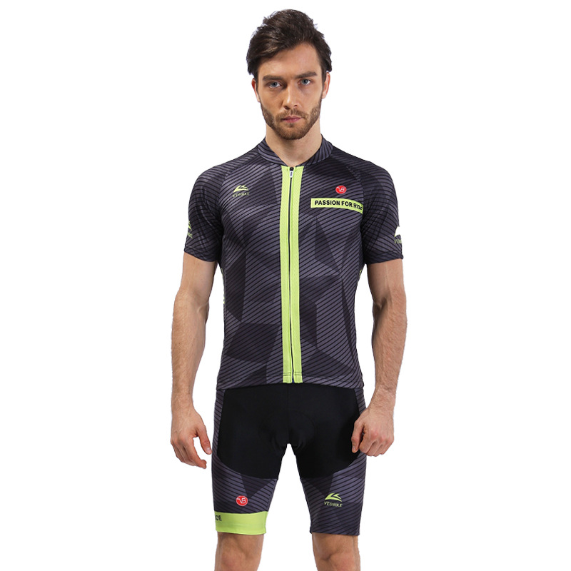 Zipper Design Elastic Breathable Cycling Clothing