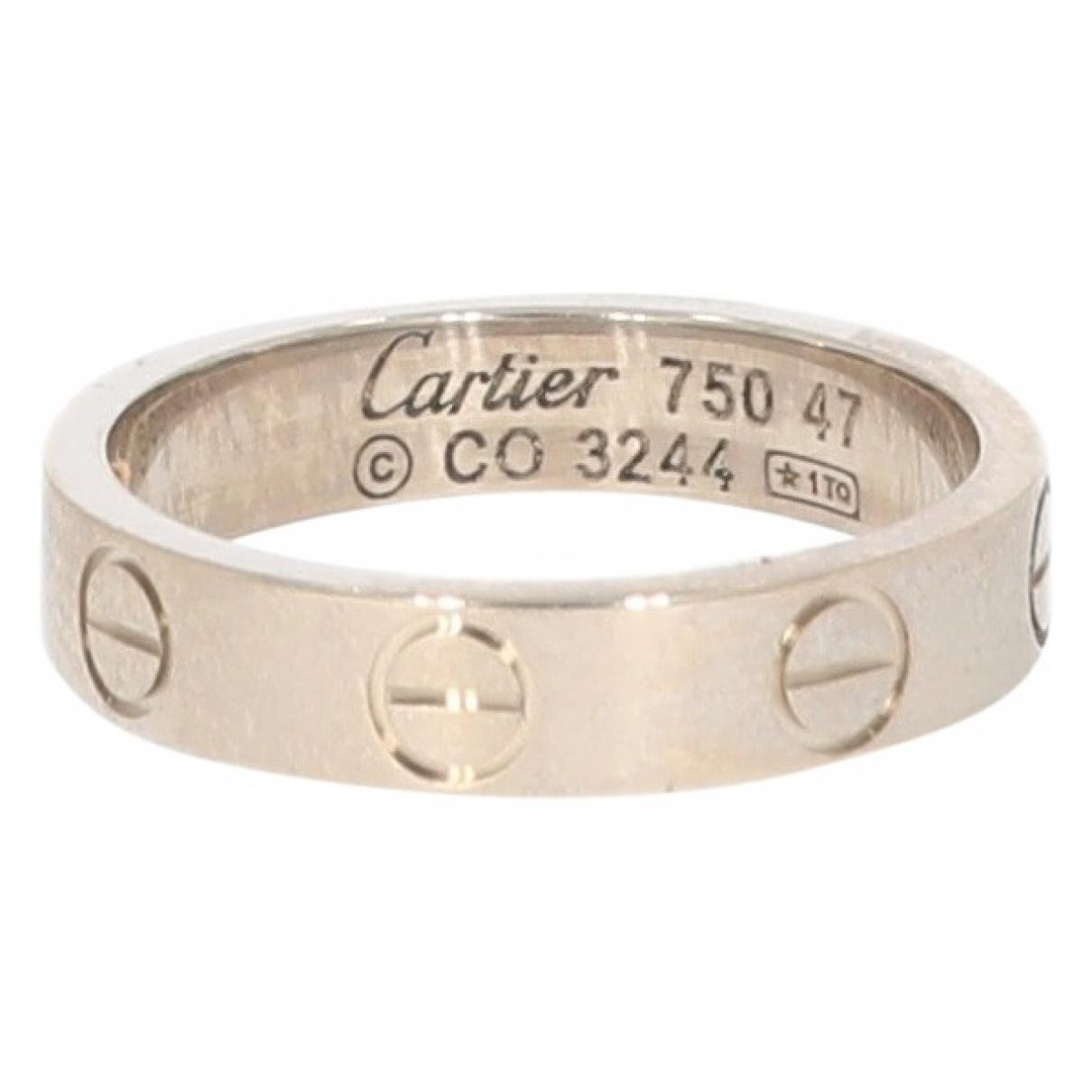 Cartier - Bague Love pour femme en or blanc - blanc