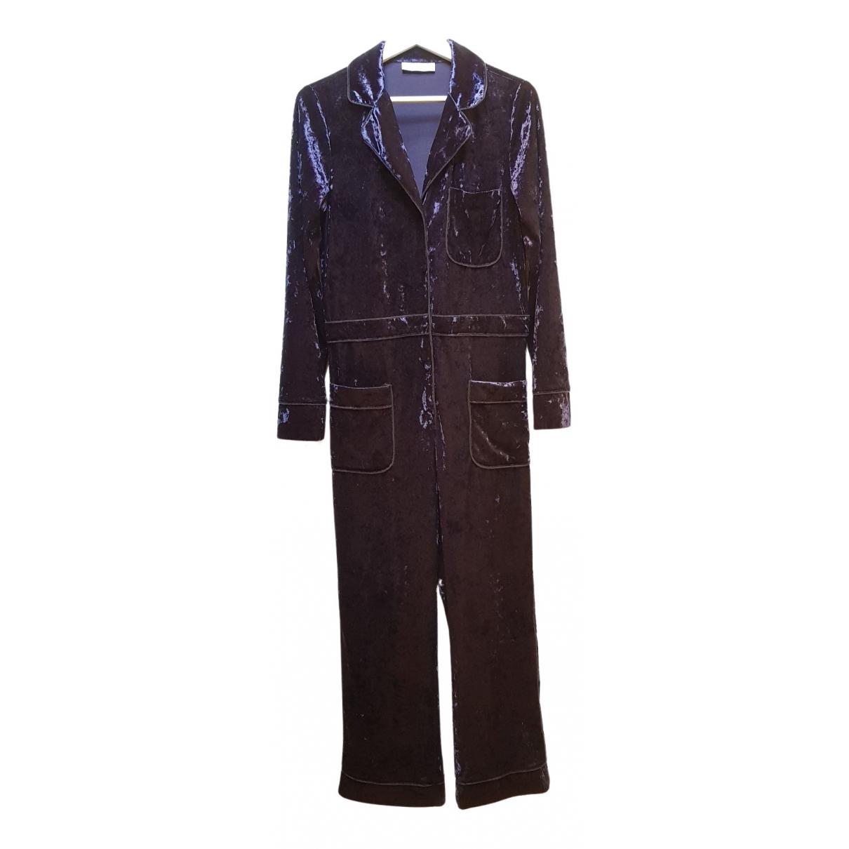 Weili Zheng - Robe   pour femme en velours - bleu