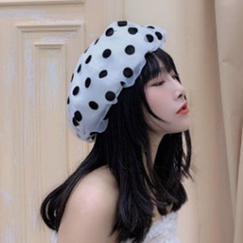 Ericdress Sweet Beret Summer Polka Dots Hats