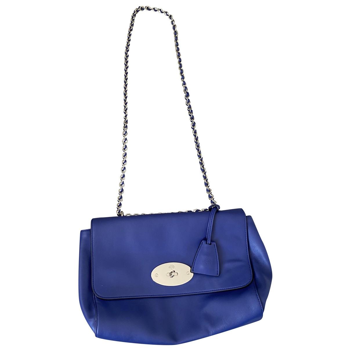 Mulberry Lily Medium Handtasche in  Blau Leder