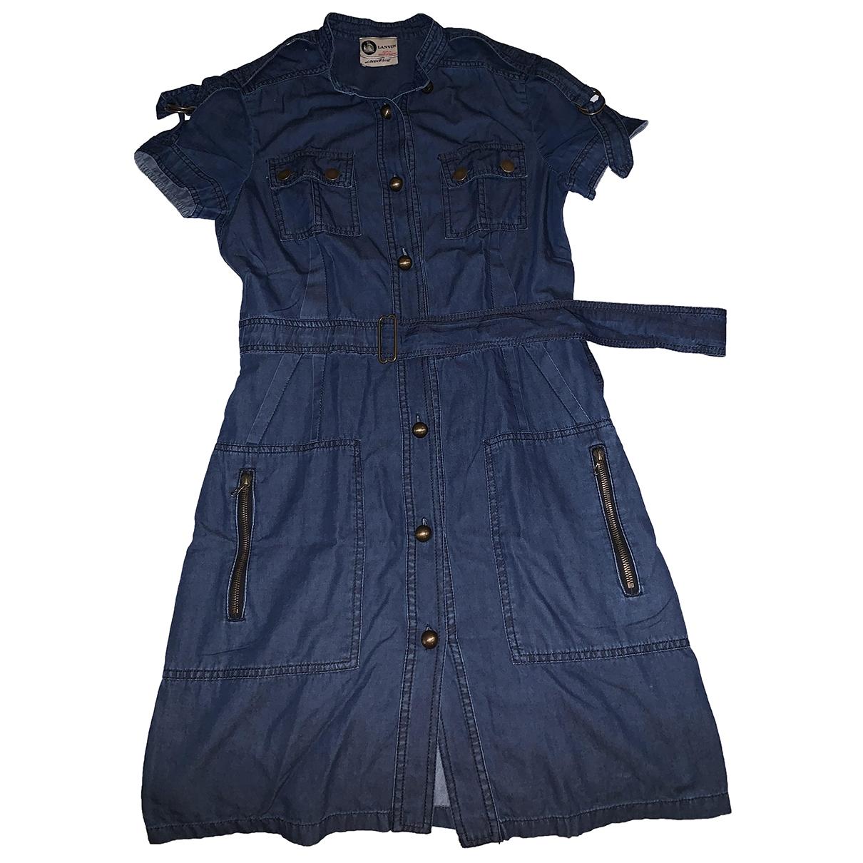 Lanvin - Robe   pour femme en denim - bleu