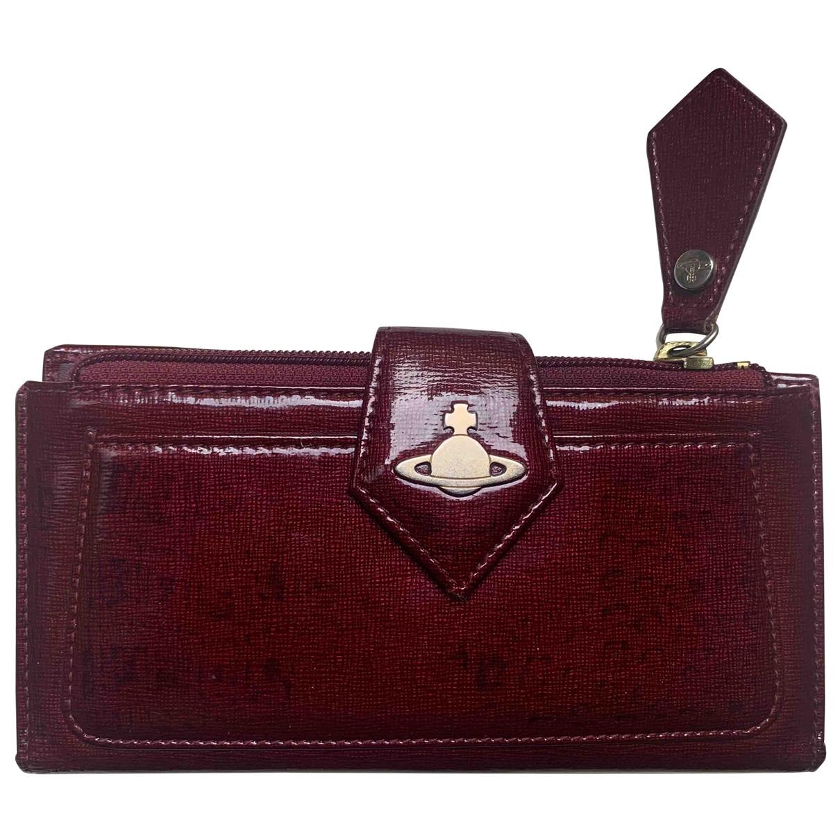 Vivienne Westwood - Portefeuille   pour femme en cuir - bordeaux