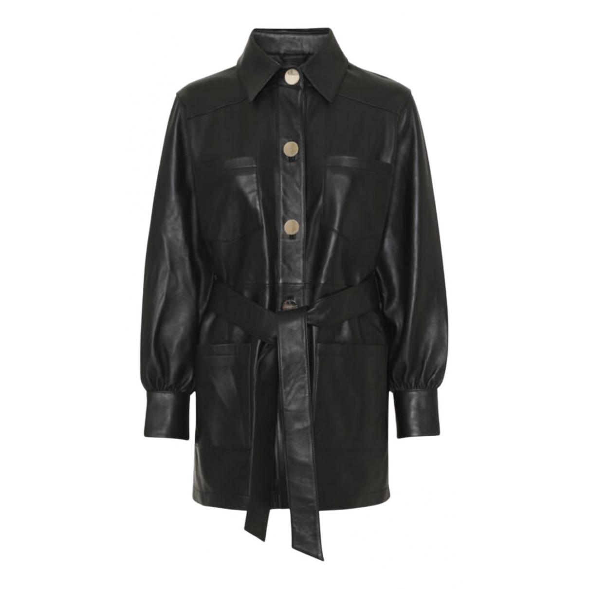Day Birger & Mikkelsen - Manteau   pour femme en cuir - noir