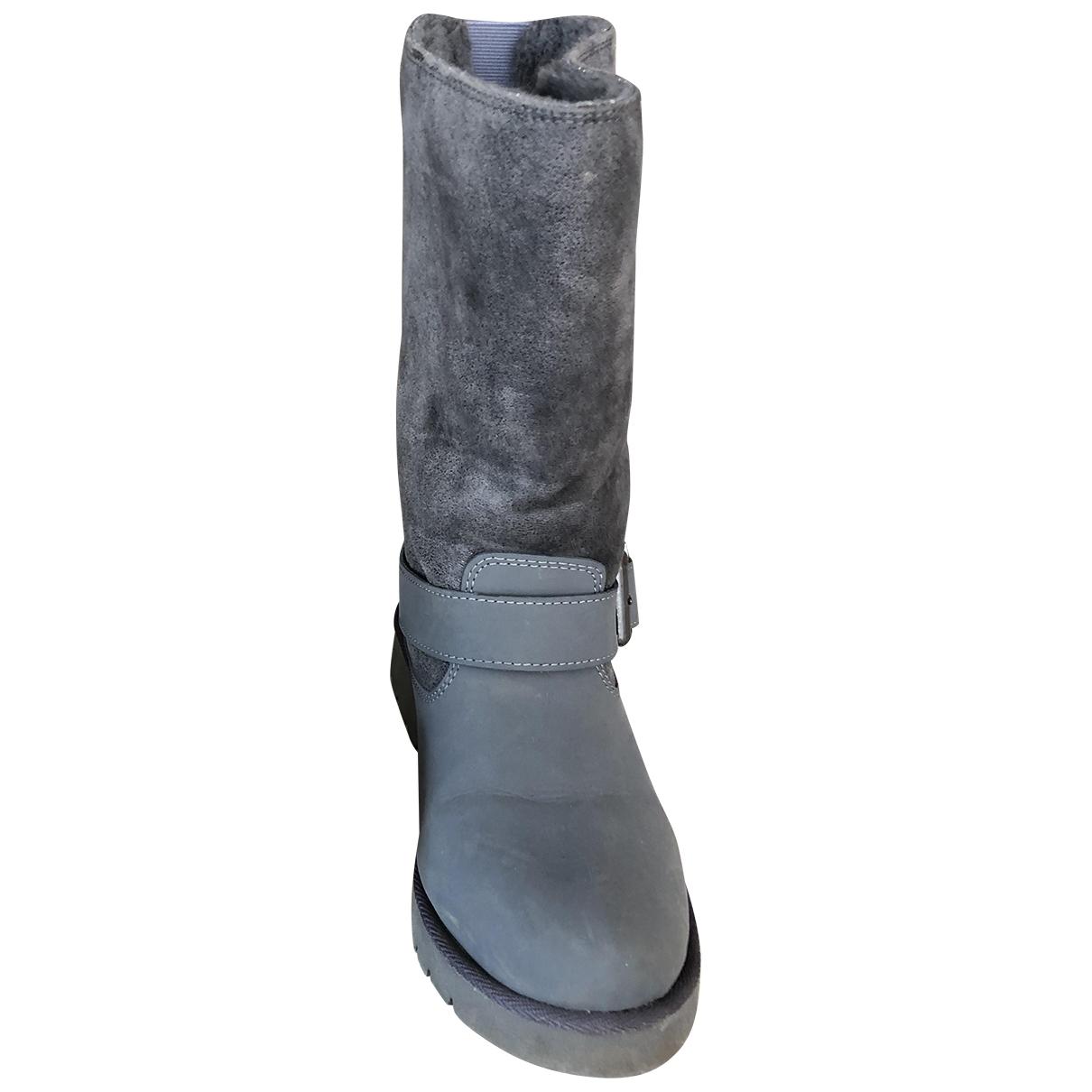 Buffalo - Bottes   pour femme en velours - gris