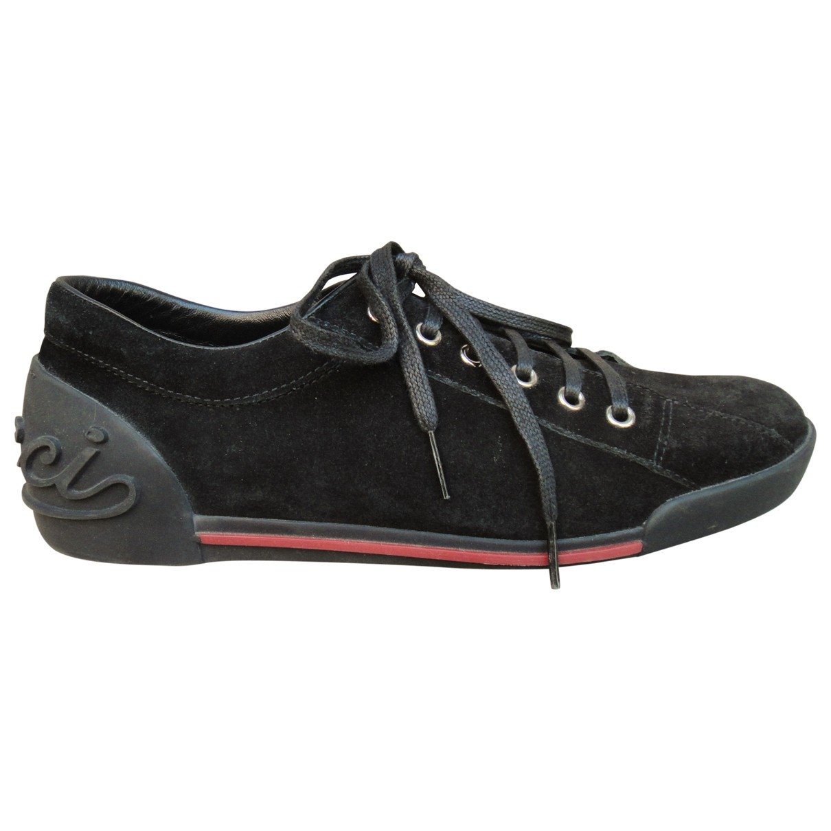 Gucci \N Black Suede Trainers for Women 39.5 EU