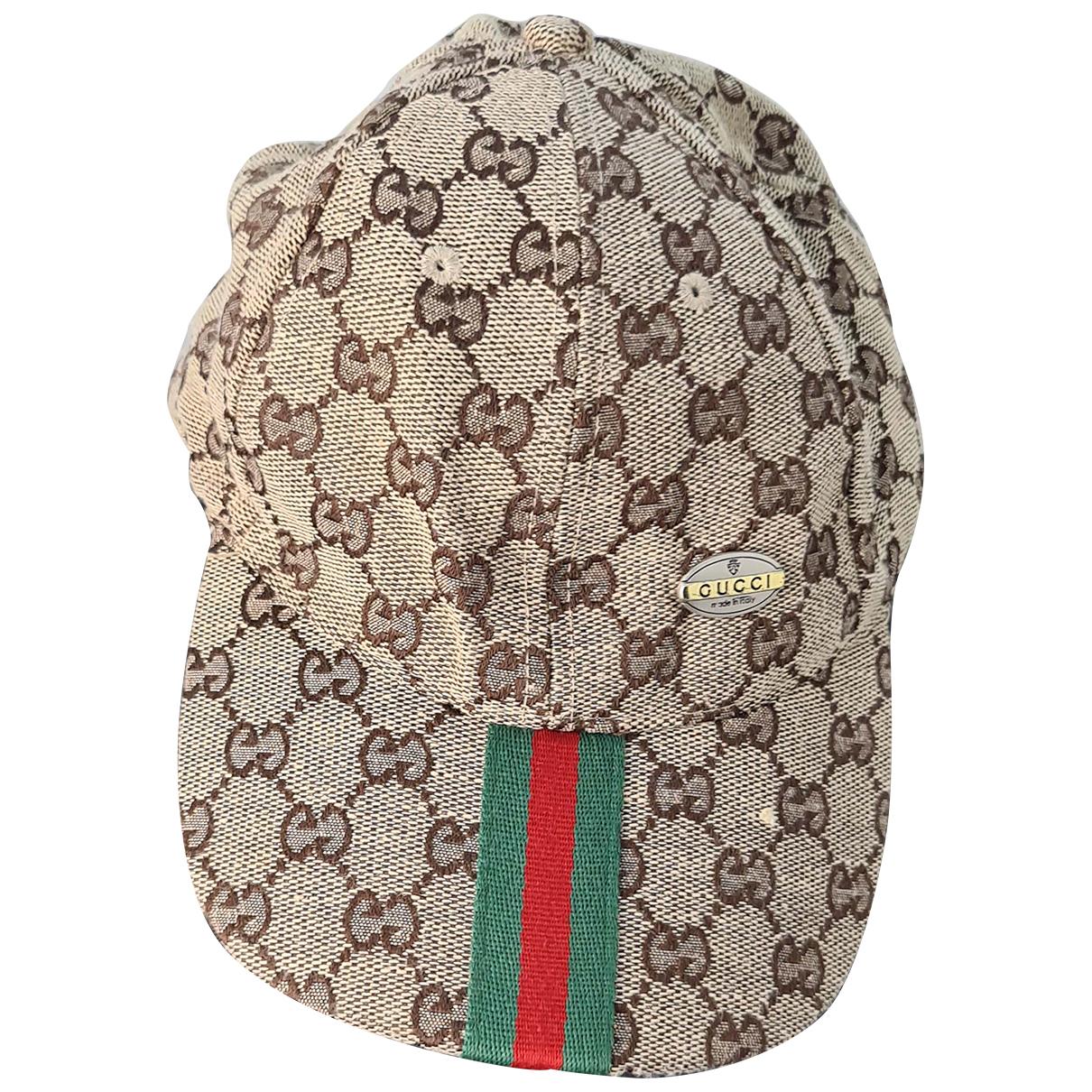 Gucci N Beige Cloth hat & pull on hat for Men M International