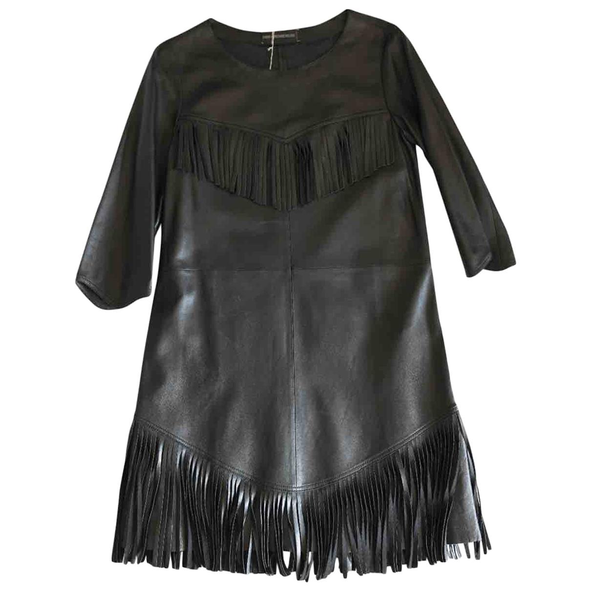 Zadig & Voltaire - Robe   pour femme en cuir - noir