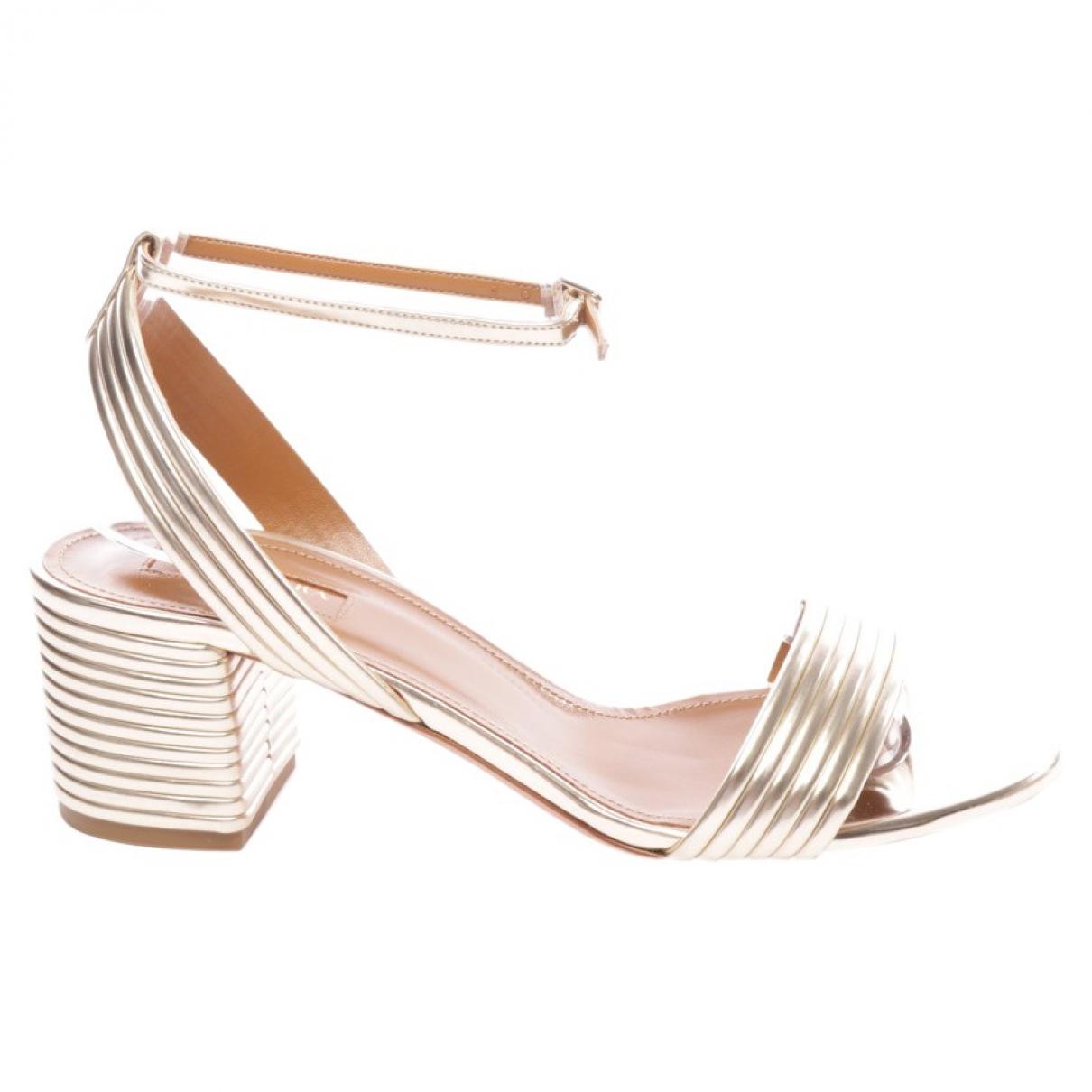 Aquazzura \N Metallic Leather Sandals for Women 38.5 EU
