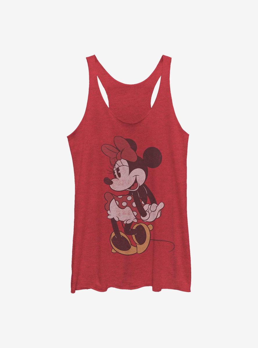 Disney Minnie Mouse Classic Vintage Minnie Womens Tank Top