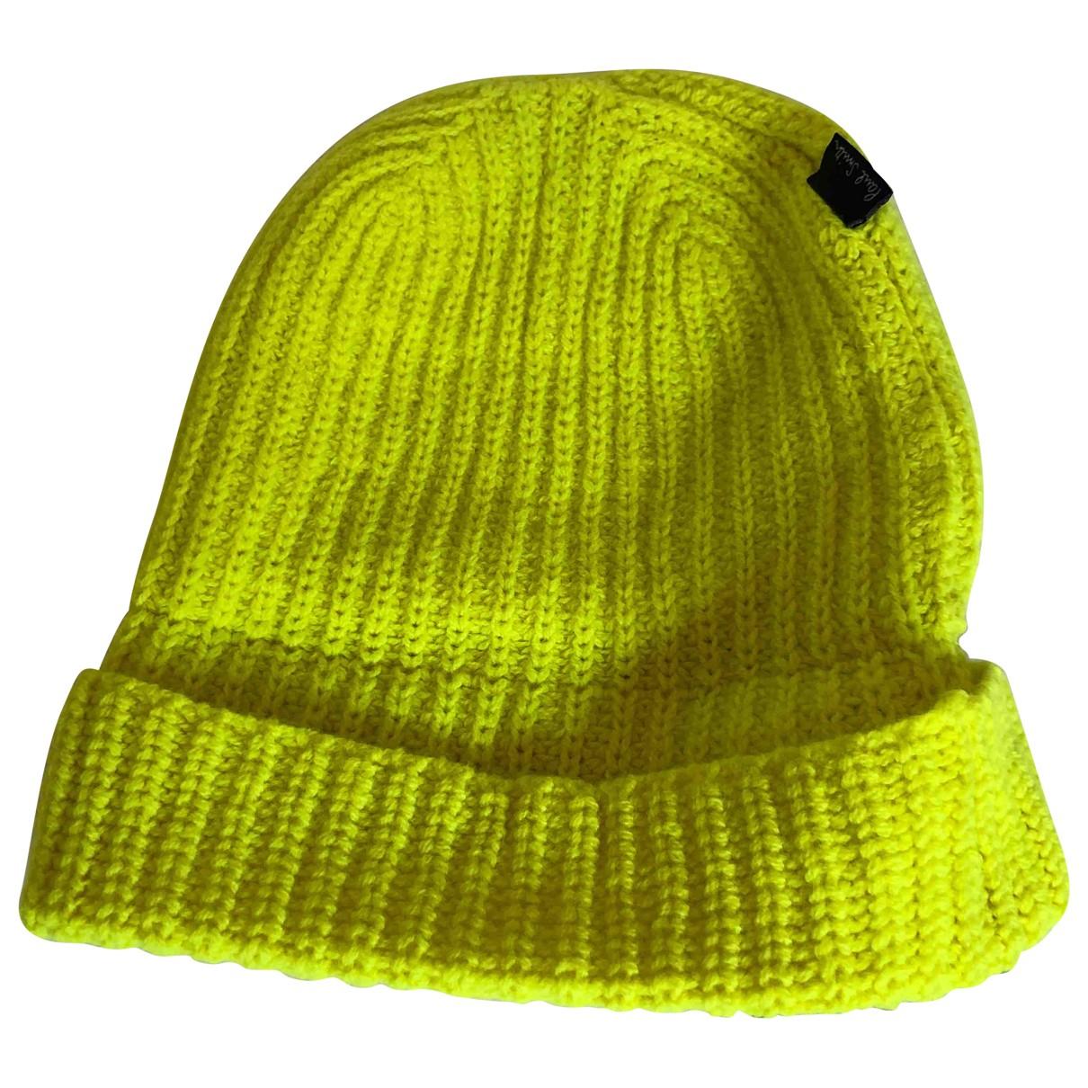 Paul Smith \N Hut, Muetzen in  Gelb Wolle