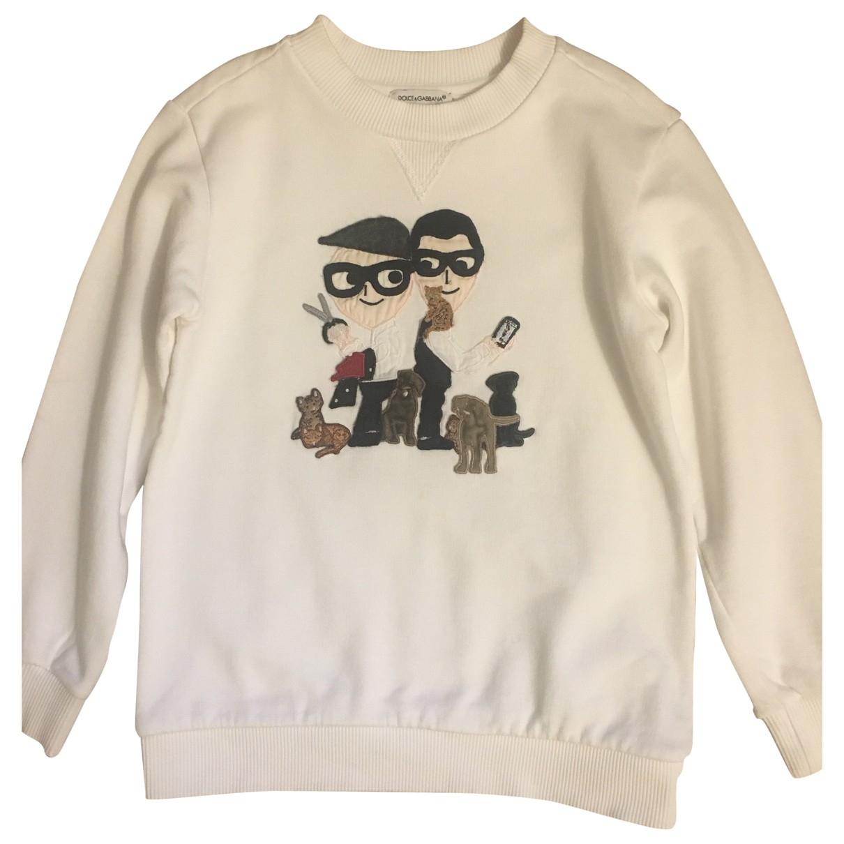 Dolce & Gabbana \N Pullover, StrickJacke in  Weiss Baumwolle
