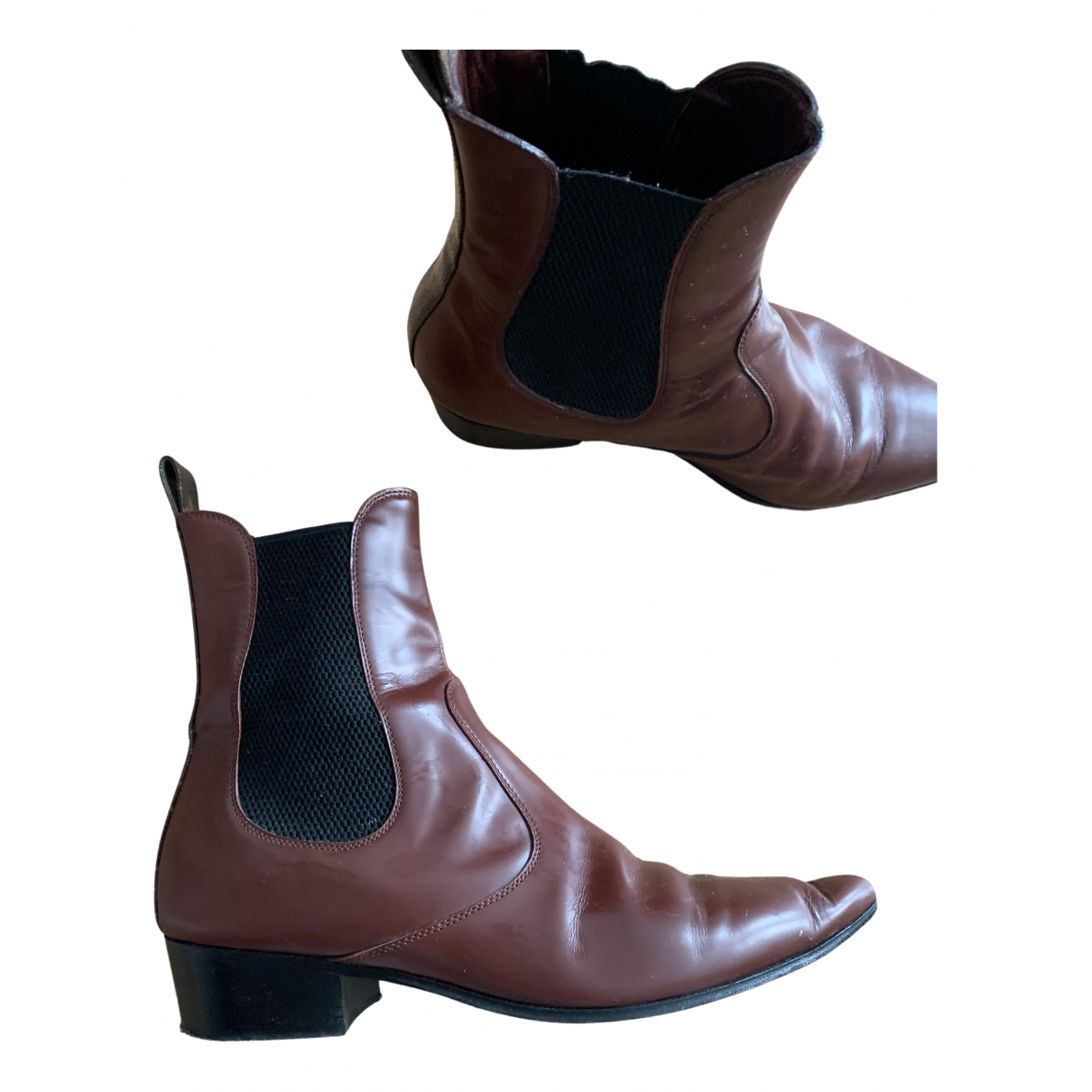 Louis Vuitton N Brown Leather Ankle boots for Women 39 IT