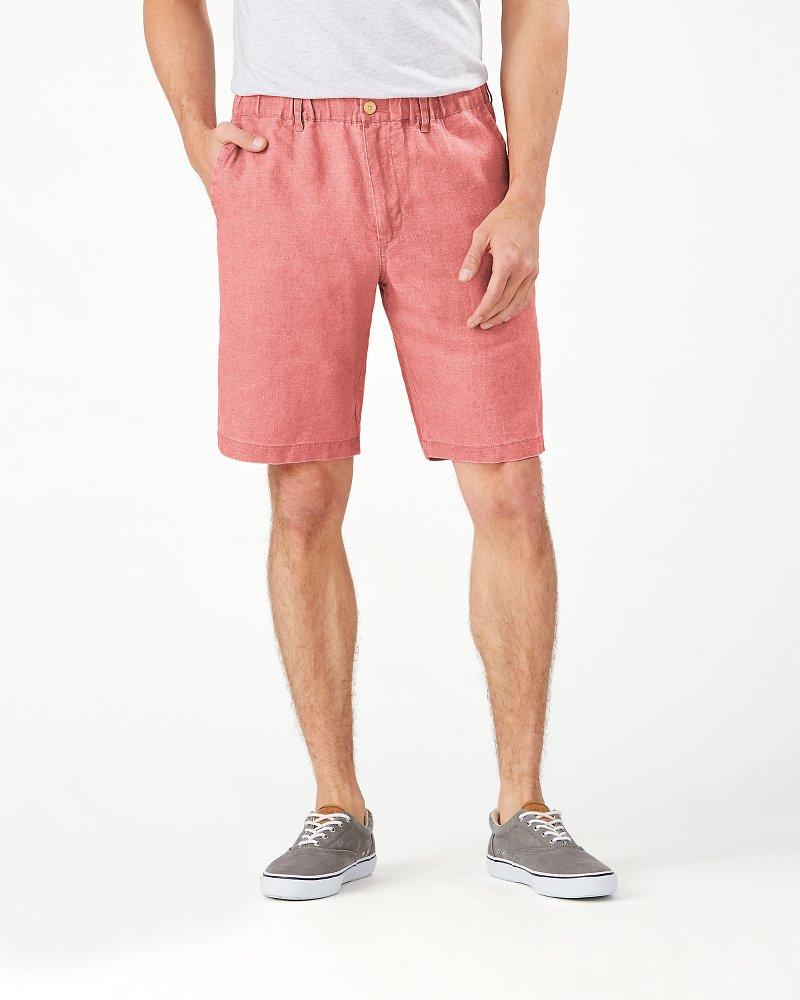 Linen The Good Life Elastic-Waist Shorts