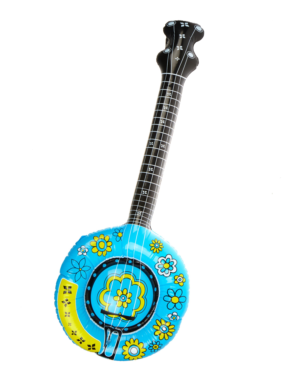 Kostuemzubehor Aufblasbares Banjo Farbe: tuerkis