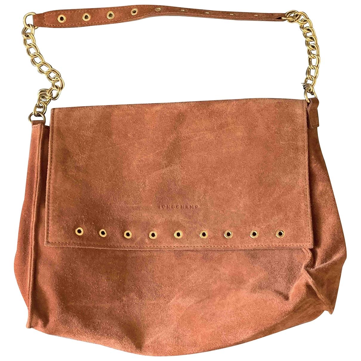 Longchamp - Sac a main   pour femme en cuir - rouge