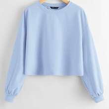 Crop Pullover mit sehr tief angesetzter Schulterpartie