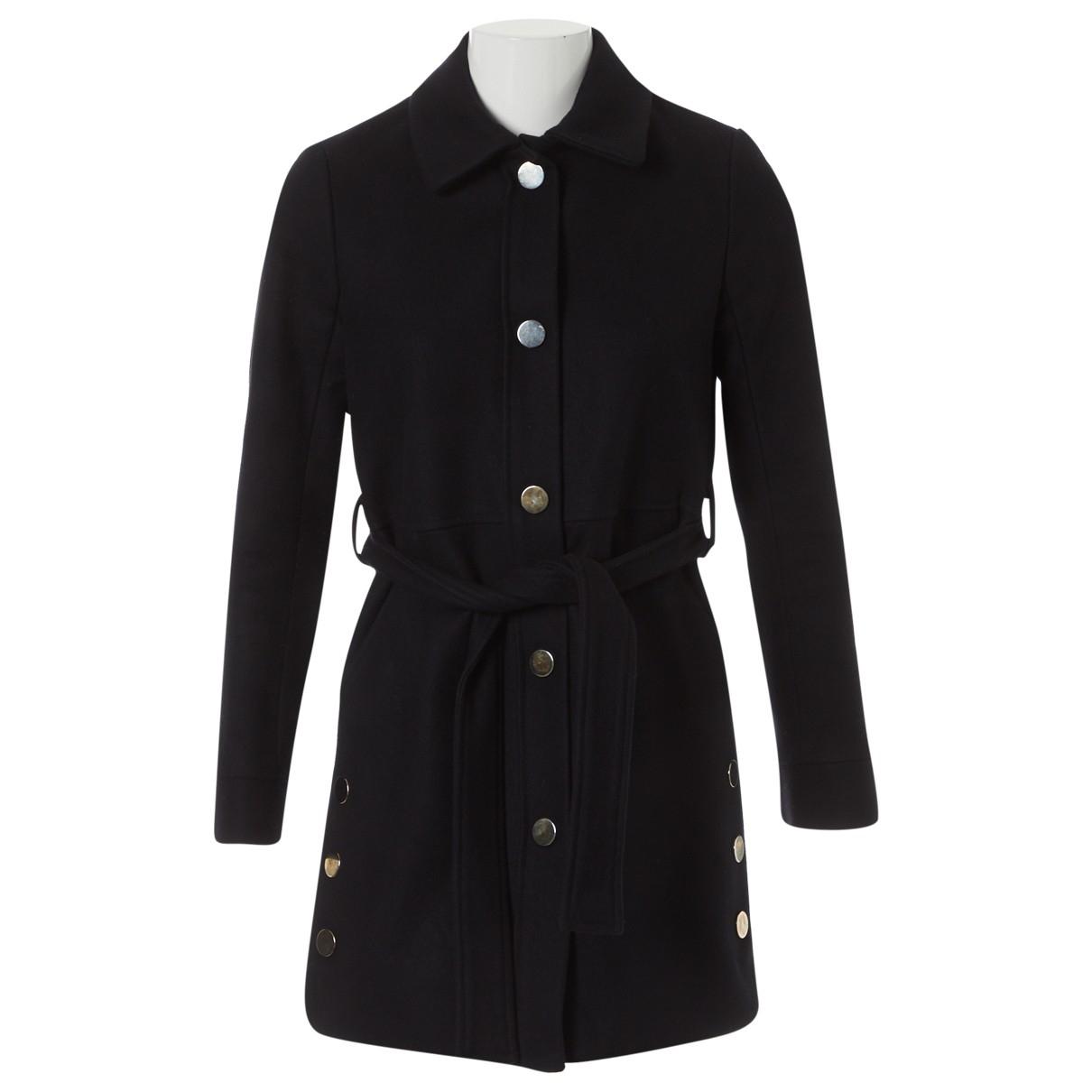 Maje - Manteau   pour femme en laine - marine