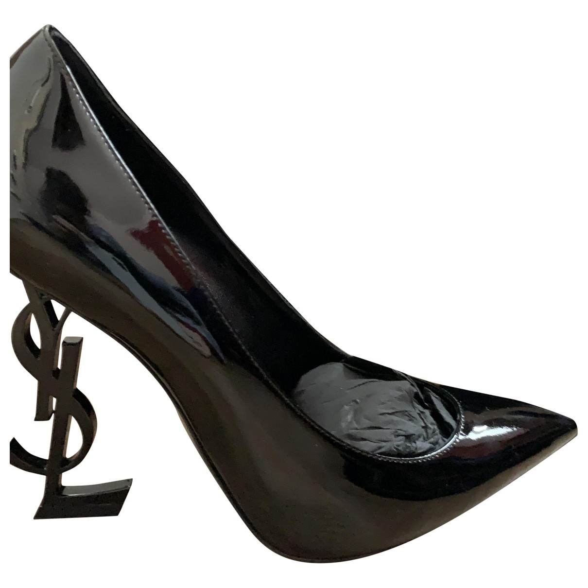 Saint Laurent Opyum Black Patent leather Heels for Women 38 IT