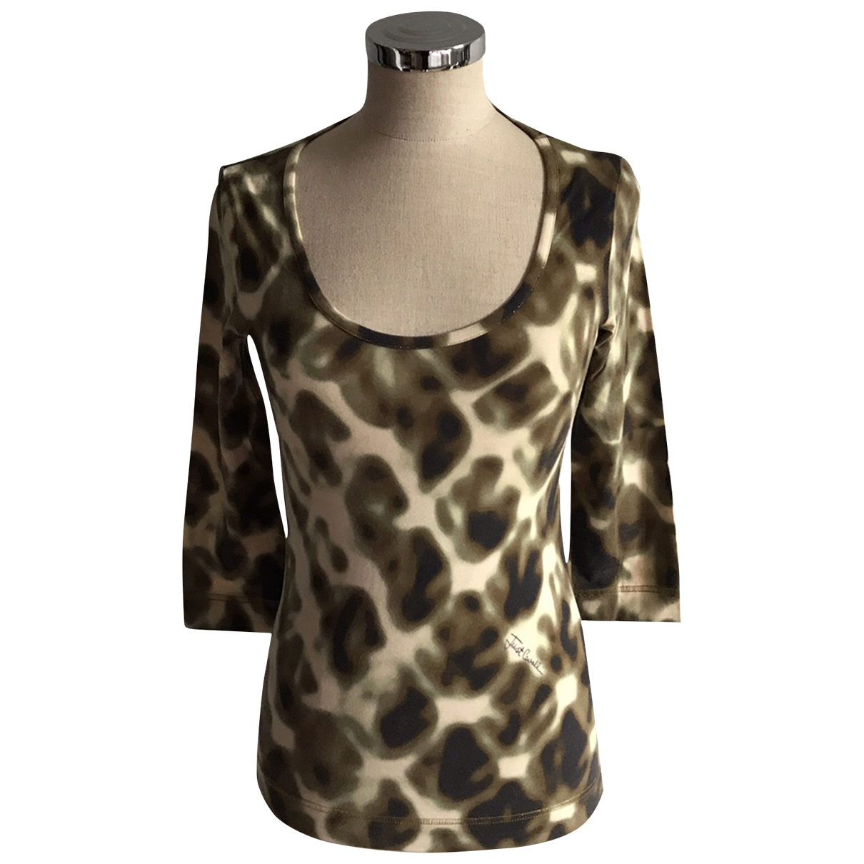 Just Cavalli \N Green Cotton  top for Women S International