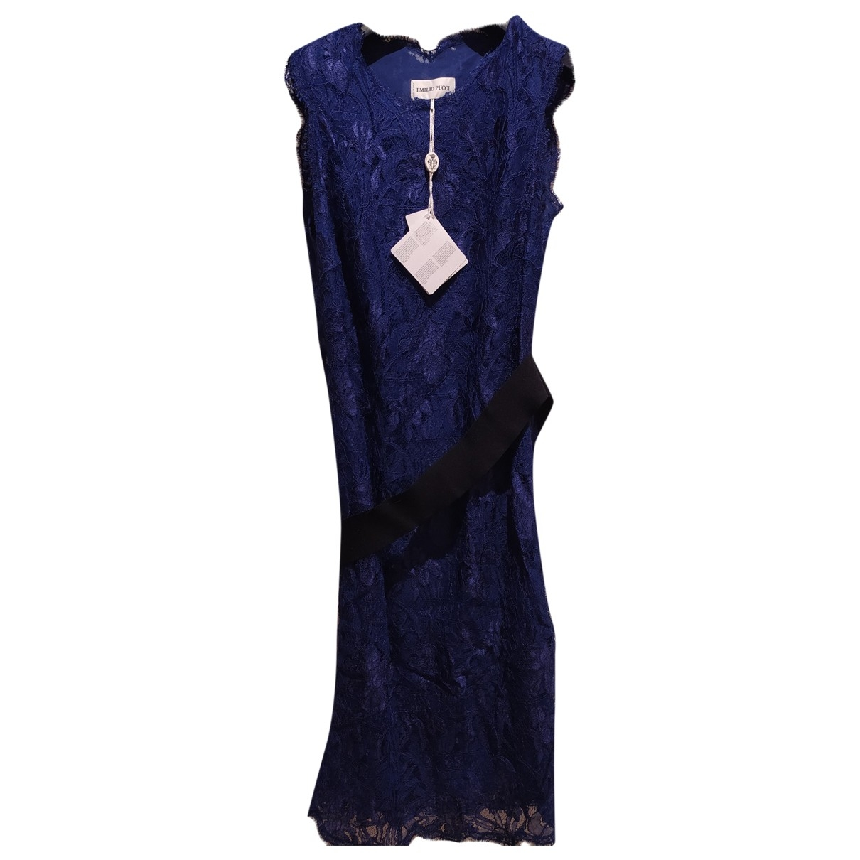 Emilio Pucci \N Blue Lace dress for Women 46 IT