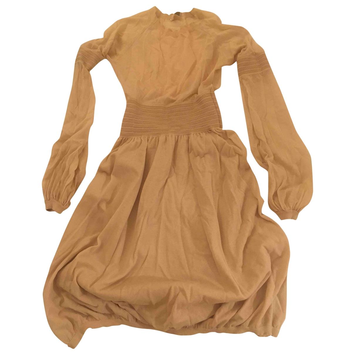 Malo \N Kleid in  Beige Baumwolle