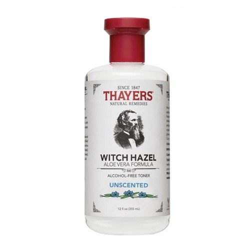 Witch Hazel Toner with Aloe Vera Unscented 12 OZ by Thayers