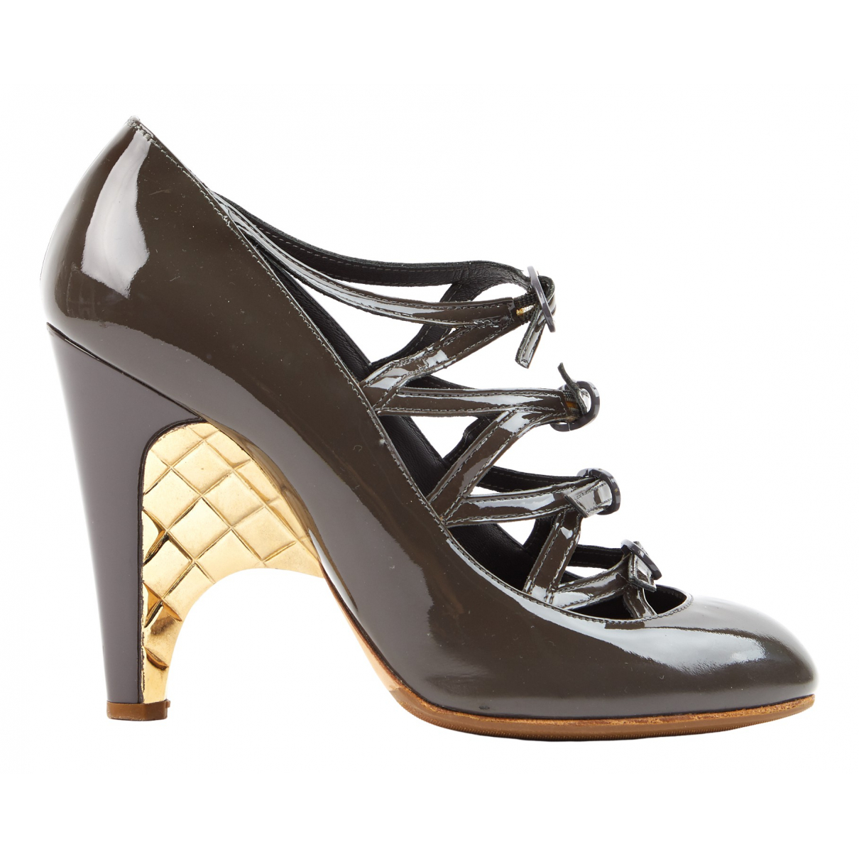 Chanel N Brown Patent leather Heels for Women 39.5 EU