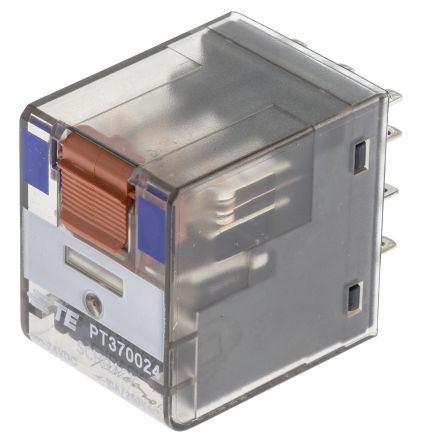 TE Connectivity , 24V dc Coil Non-Latching Relay 3PDT, 10A Switching Current PCB Mount, 3 Pole