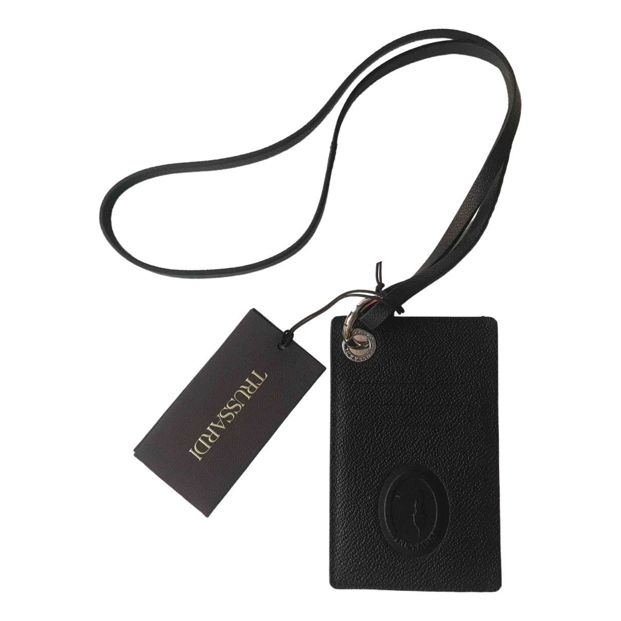Trussardi \N Kleinlederwaren in  Schwarz Leder