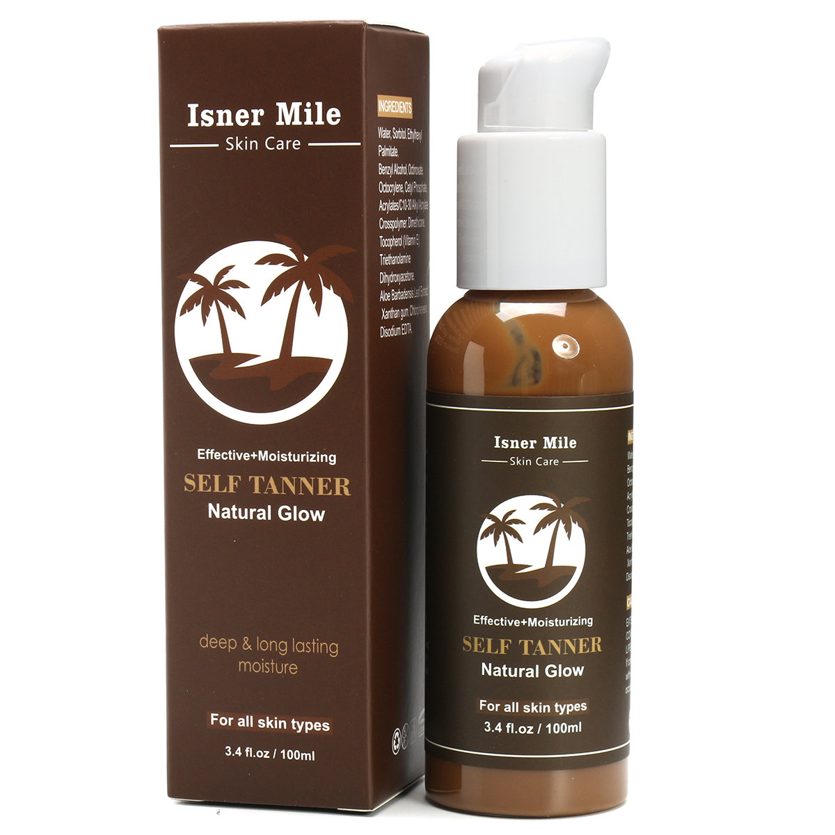 100 ml Self Tanning Cream Natural Bronze Skin Sunscreen Lotion Moisturizing Lasting Tanning Cream