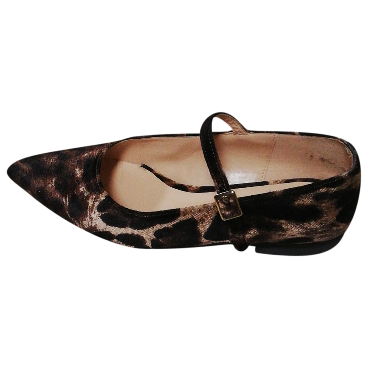 Vicolo - Ballerines   pour femme en veau facon poulain - noir