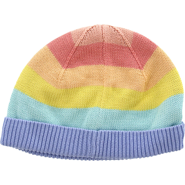 Janie And Jack Rainbow Striped Beanie Hats & Cap - 12-18 Months